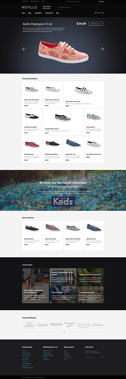 Magento Theme/Template 60069 Main Page Screenshot
