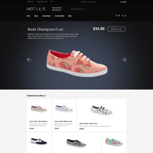 Screenshot of Notillis Shoes Store