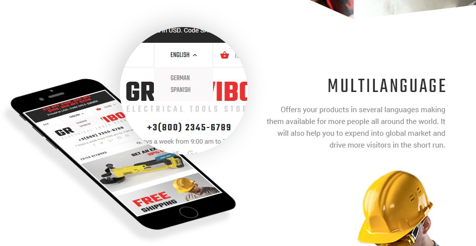 GrailWibo - Electrical Tools Store Magento 2 Theme