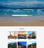 Travel Website  Template 60075