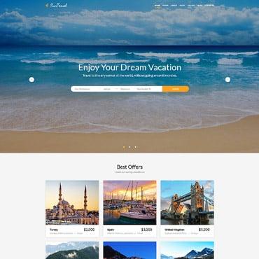 Купить Bootstrap шаблон для сайта туристического агентства - SunTravel. Купить шаблон #60075 и создать сайт.