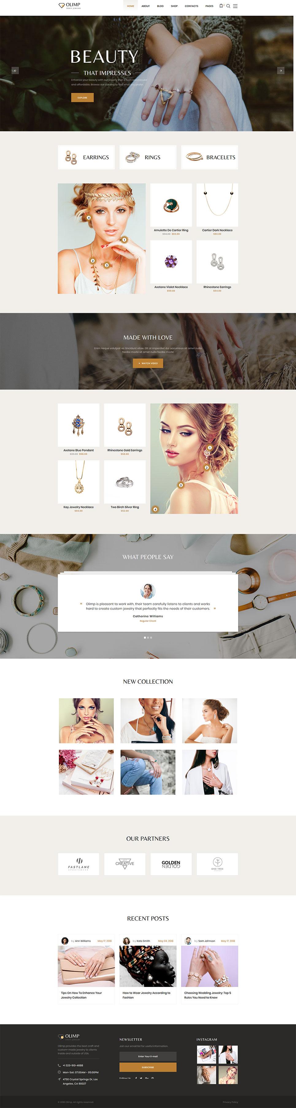 DiamondShop - Beautiful Jewelry Responsive template illustration image