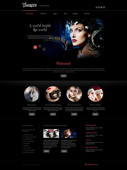 Joomla Theme/Template 60082 Main Page Screenshot