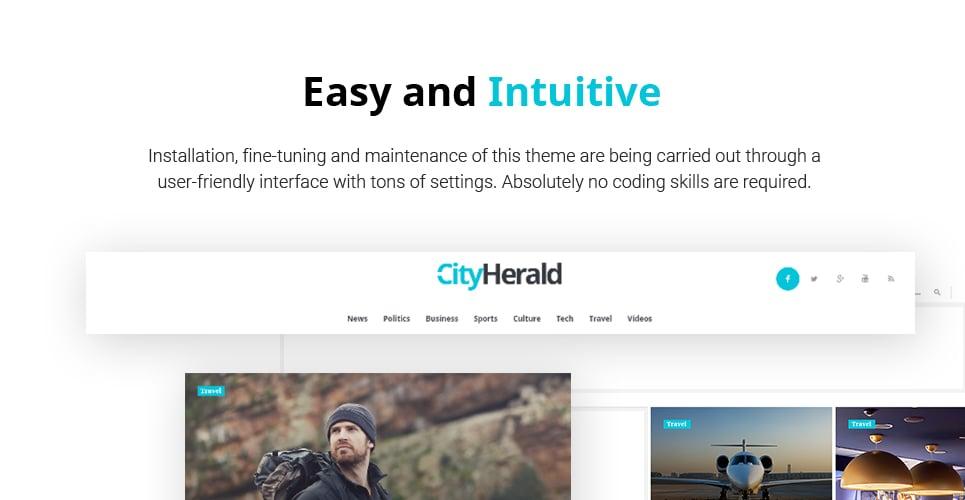 City Herald - Magazine WordPress Theme