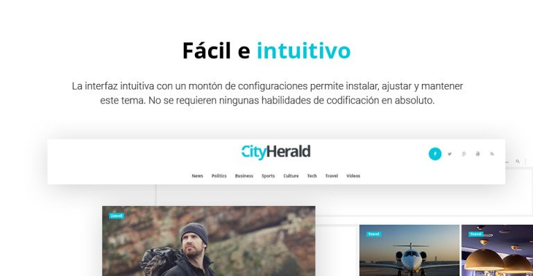 Tema de WordPress #60083 para Sitio de Revistas