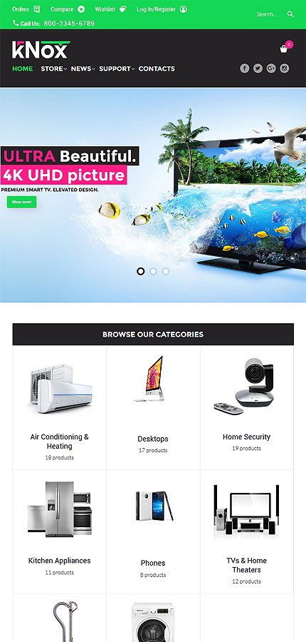 ADOBE Photoshop Template 60096 Home Page Screenshot