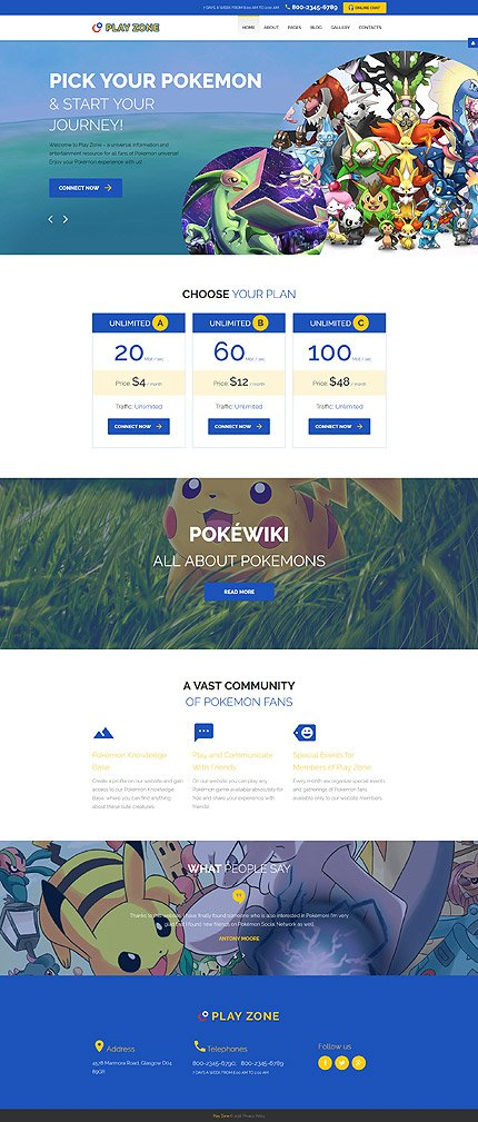Joomla Theme/Template 60099 Main Page Screenshot