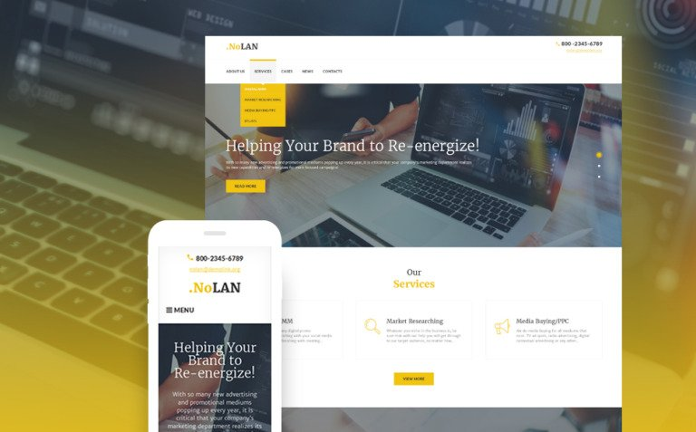 Advertising Agency Responsive WordPress Theme WordPress Theme New Screenshots BIG