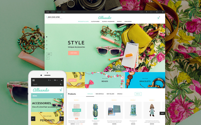 Alleando - Decor Accessories Responsive PrestaShop Theme New Screenshots BIG