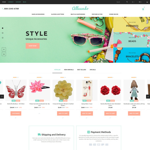 Alleando  - PrestaShop Homemade Jewelry Template