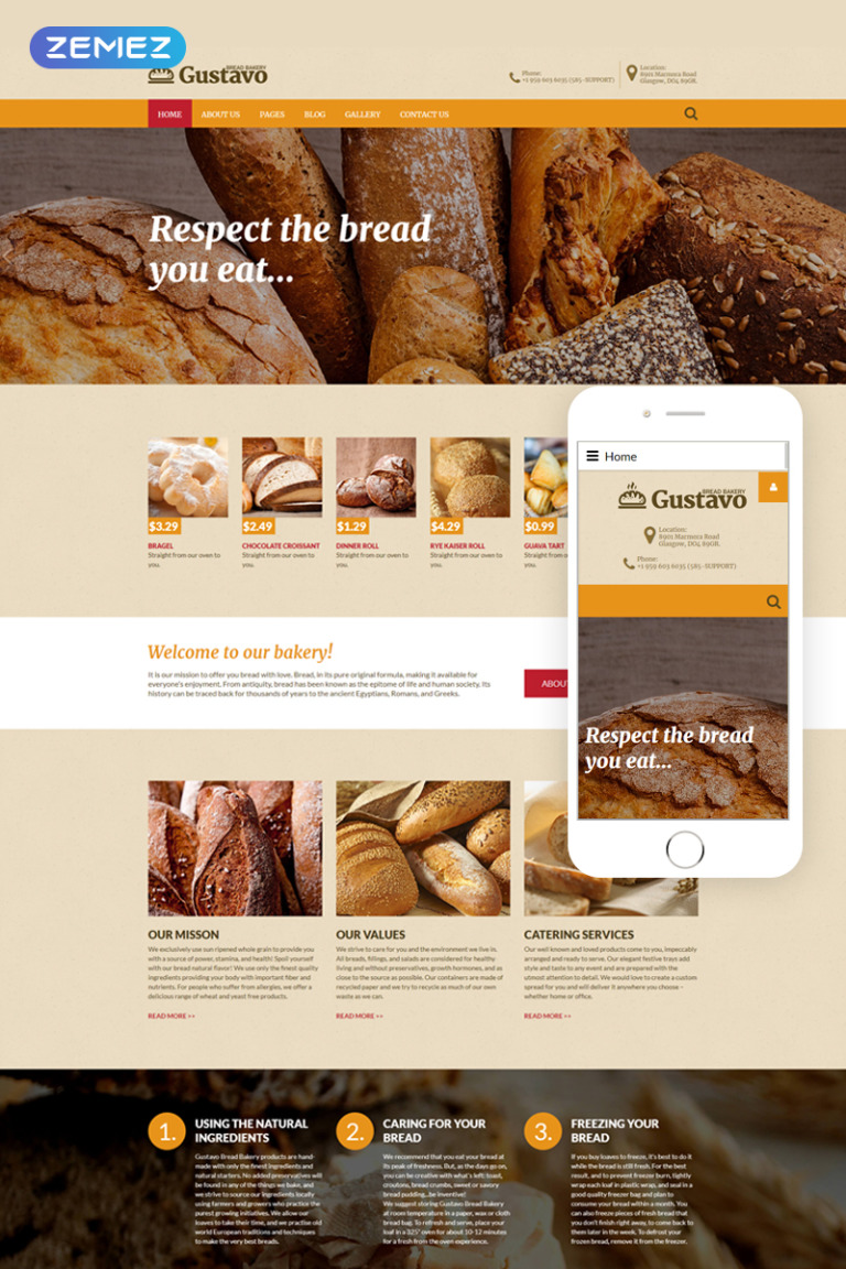 Bakery Responsive Joomla Template New Screenshots BIG