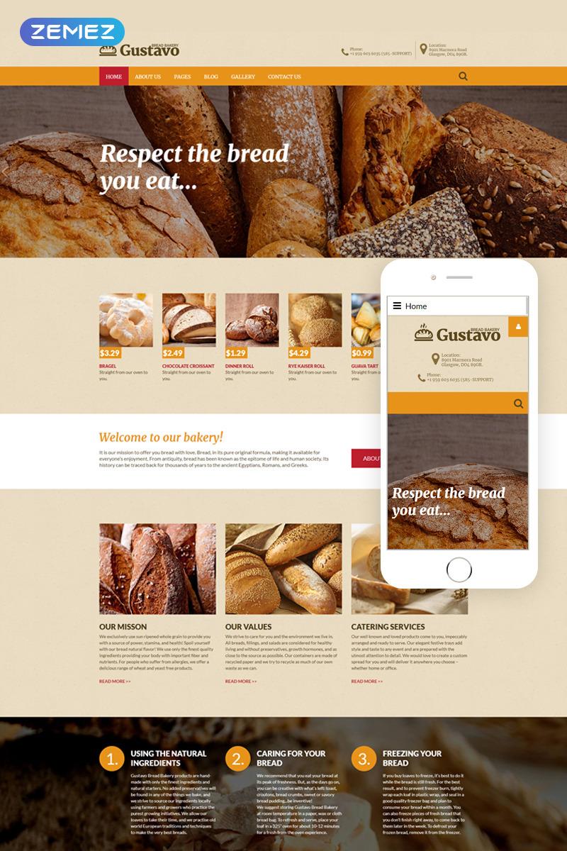 Joomla шаблон для сайта пекарни