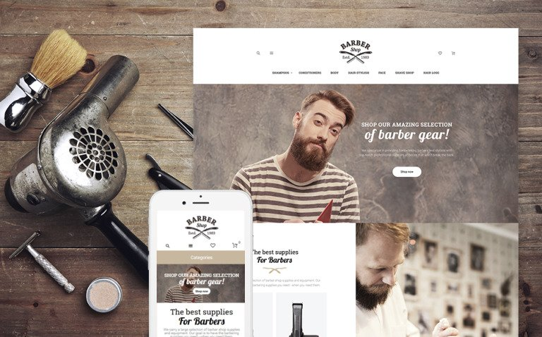 BarberShop - Barber Equipment Responsive Magento Theme New Screenshots BIG
