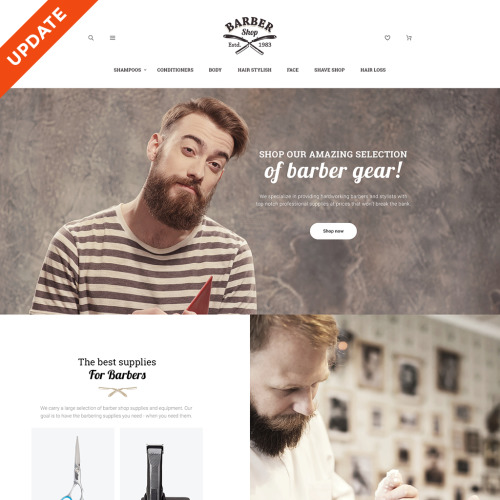 Barbershop  - Magento Template based on Bootstrap