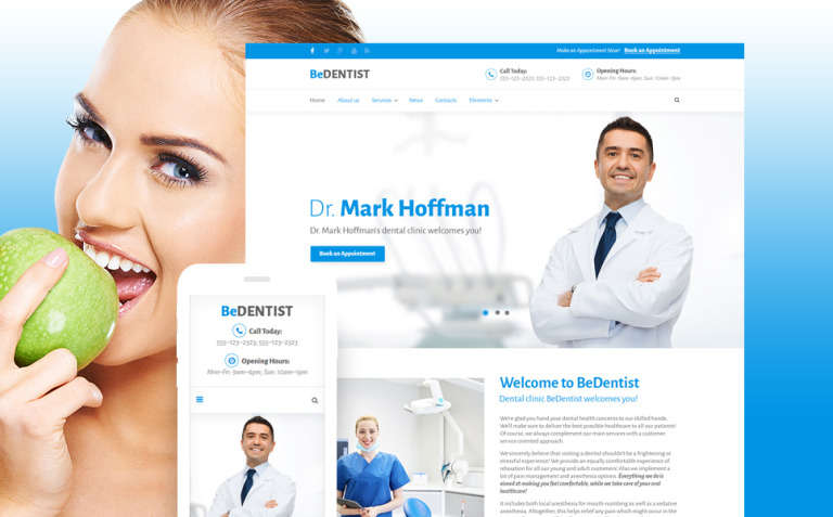 BeDentist Website Template New Screenshots BIG