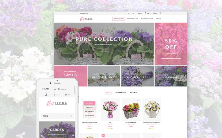 BeFlora PrestaShop Theme New Screenshots BIG