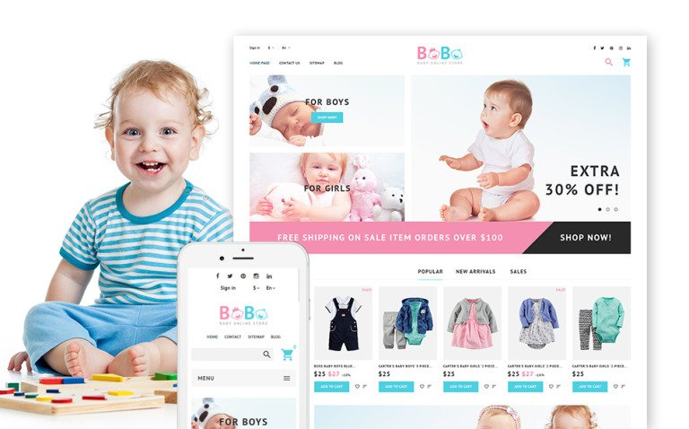 BoBo - Baby Online Store PrestaShop Theme New Screenshots BIG
