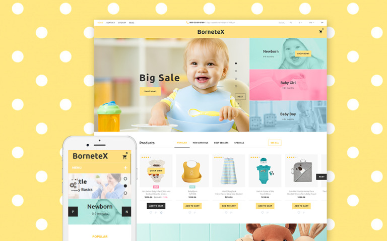 BorneteX - Maternity Store PrestaShop Theme New Screenshots BIG