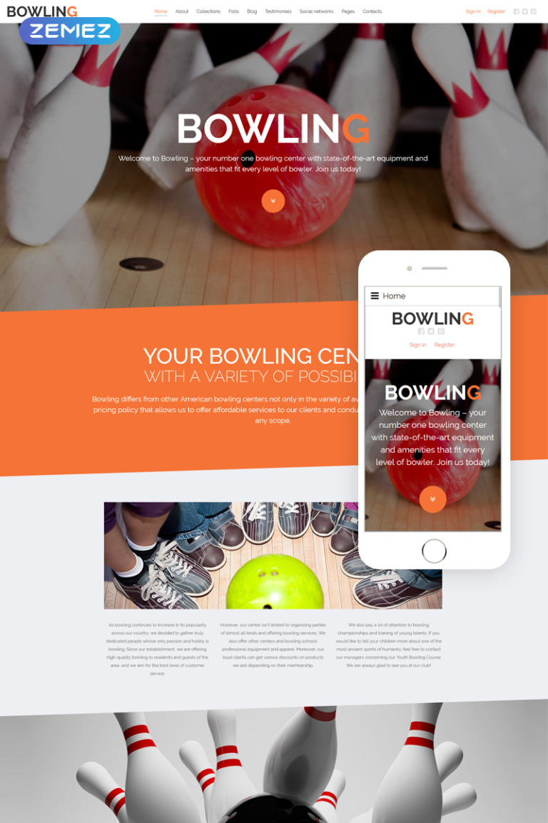 Bowling Joomla Template New Screenshots BIG