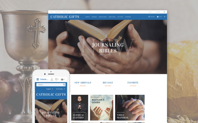 Catholic Gifts OpenCart Template New Screenshots BIG