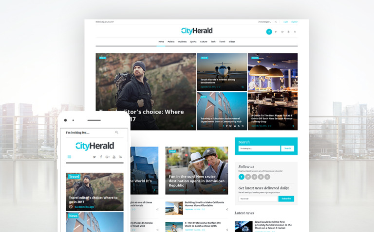 City Herald - Magazine WordPress Theme New Screenshots BIG