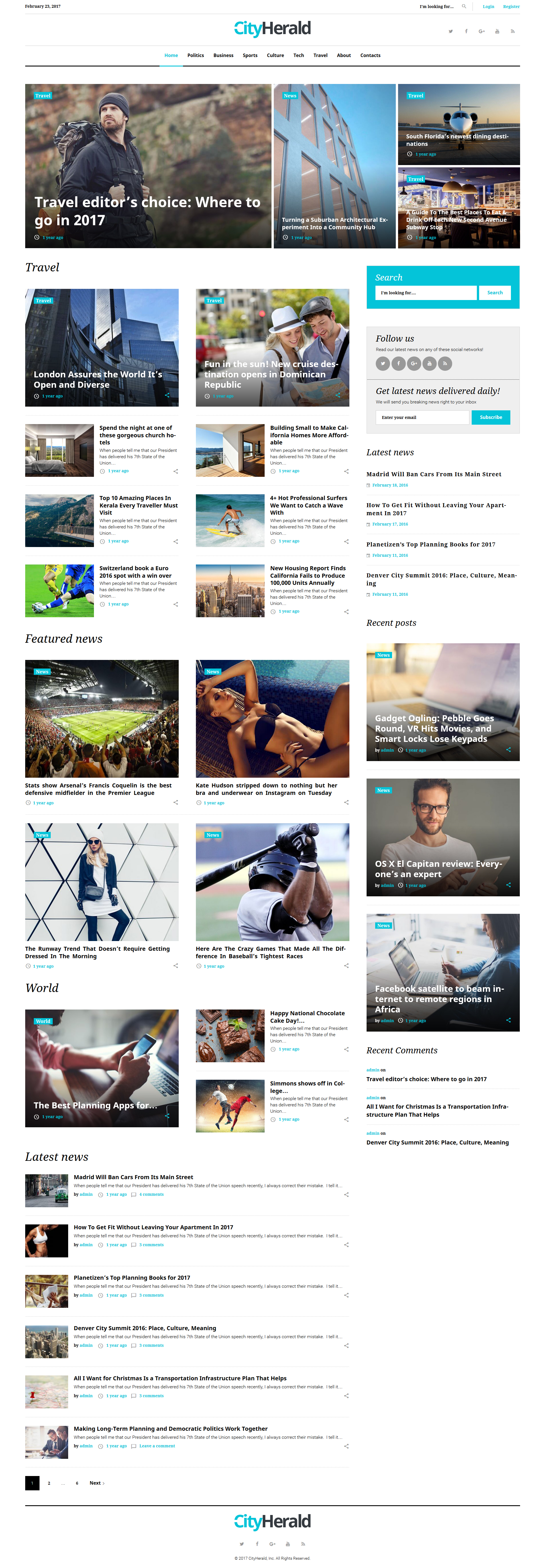 City Herald - Magazine WordPress Theme - screenshot