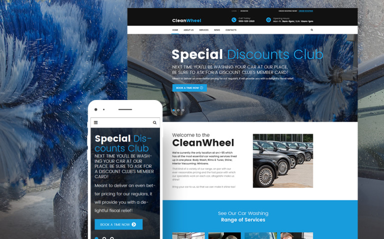 CleanWheel Car Wash WordPress Theme New Screenshots BIG