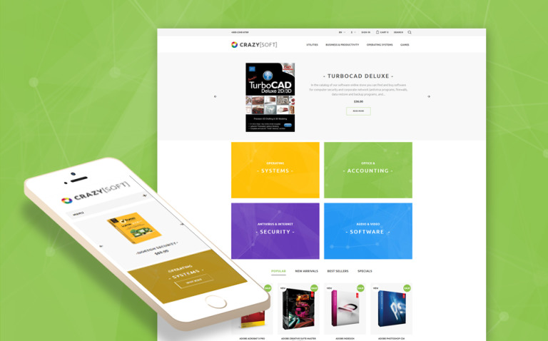 Crazy Soft PrestaShop Theme New Screenshots BIG