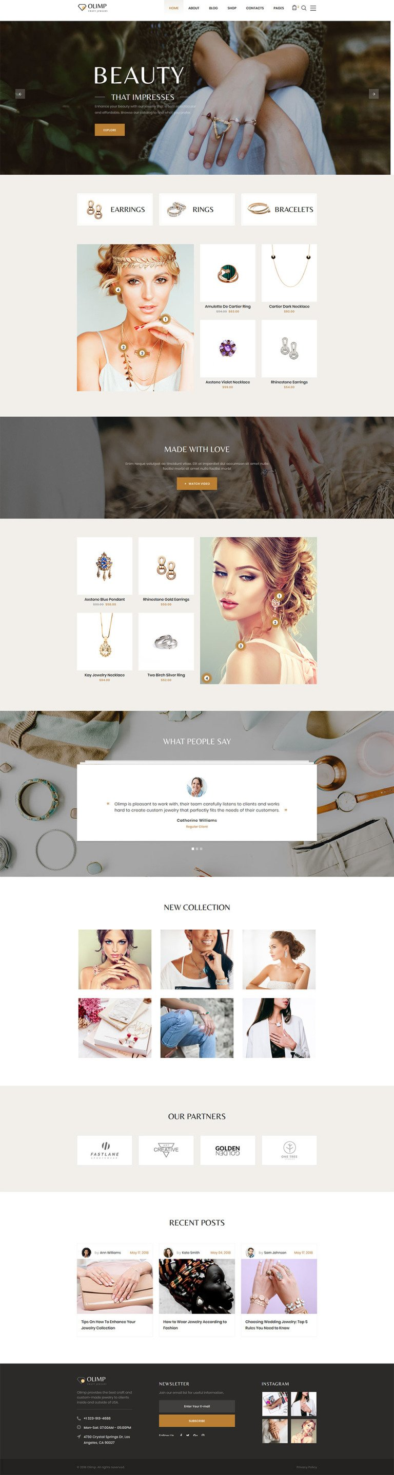 DiamondShop - Beautiful Jewelry Responsive Website Template New Screenshots BIG