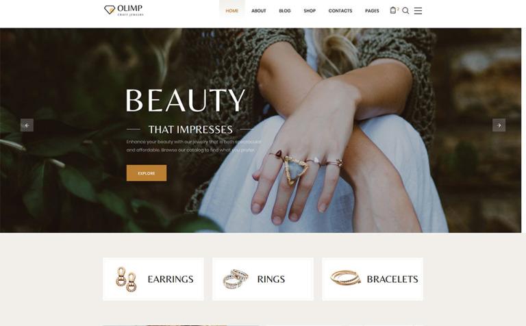 Jewelry Catalog Website Template