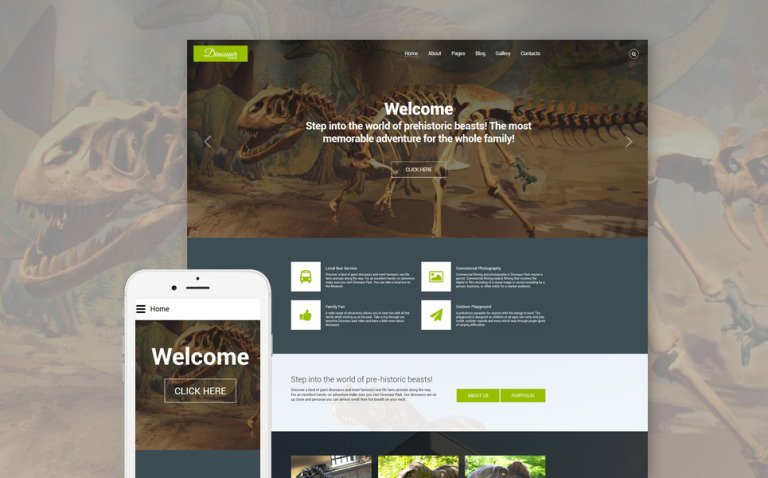 Dinosaur Museum Joomla Template New Screenshots BIG