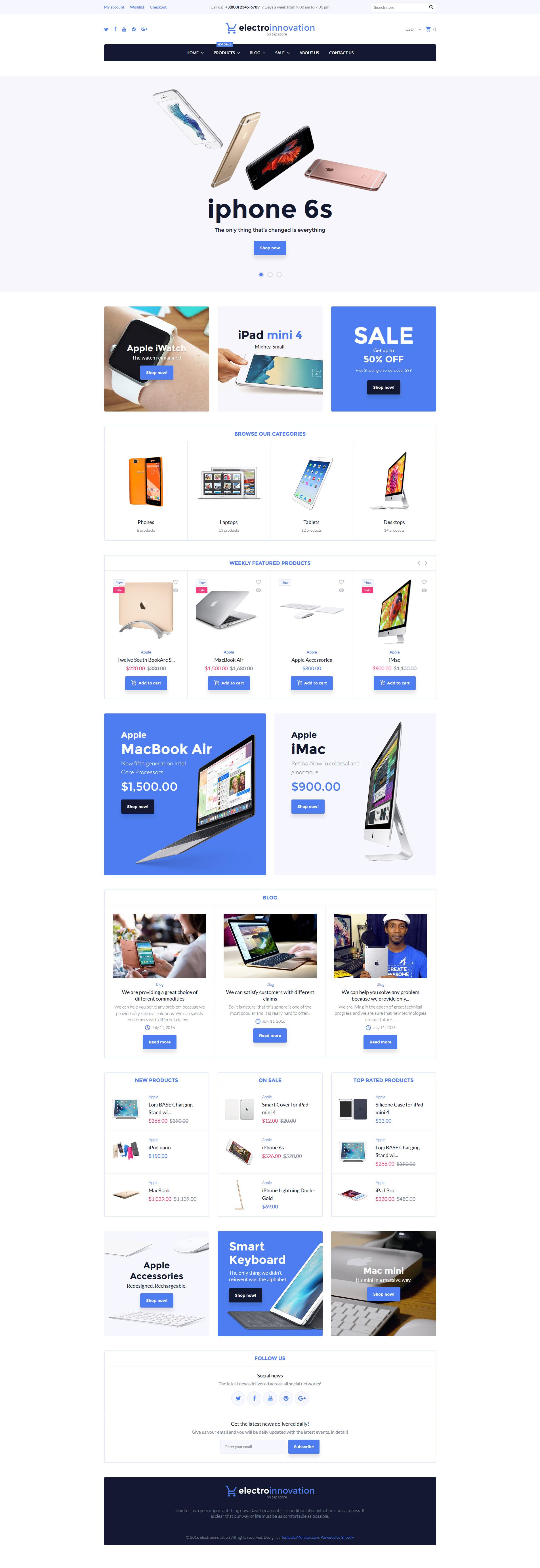 Electro Innovation Shopify Theme