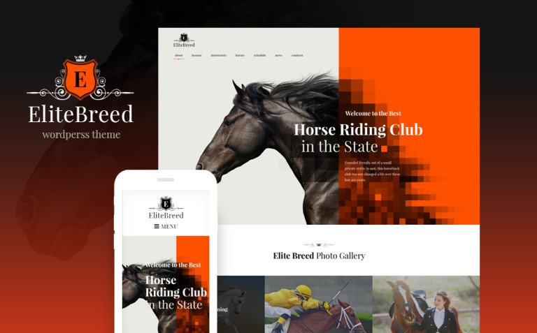 Elite Breed - Equestrian & Horse Riding Club WordPress Theme New Screenshots BIG