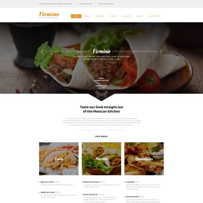 264 best food restaurant website templates templatemonster forumfinder Choice Image