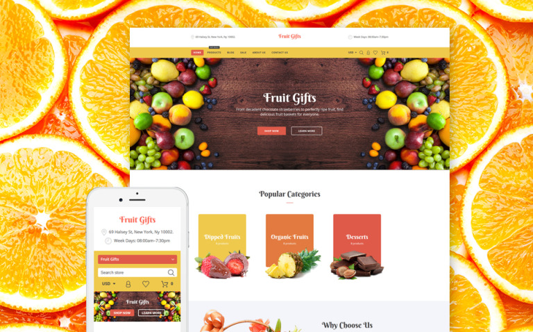 Fruit Gifts Shopify Theme New Screenshots BIG