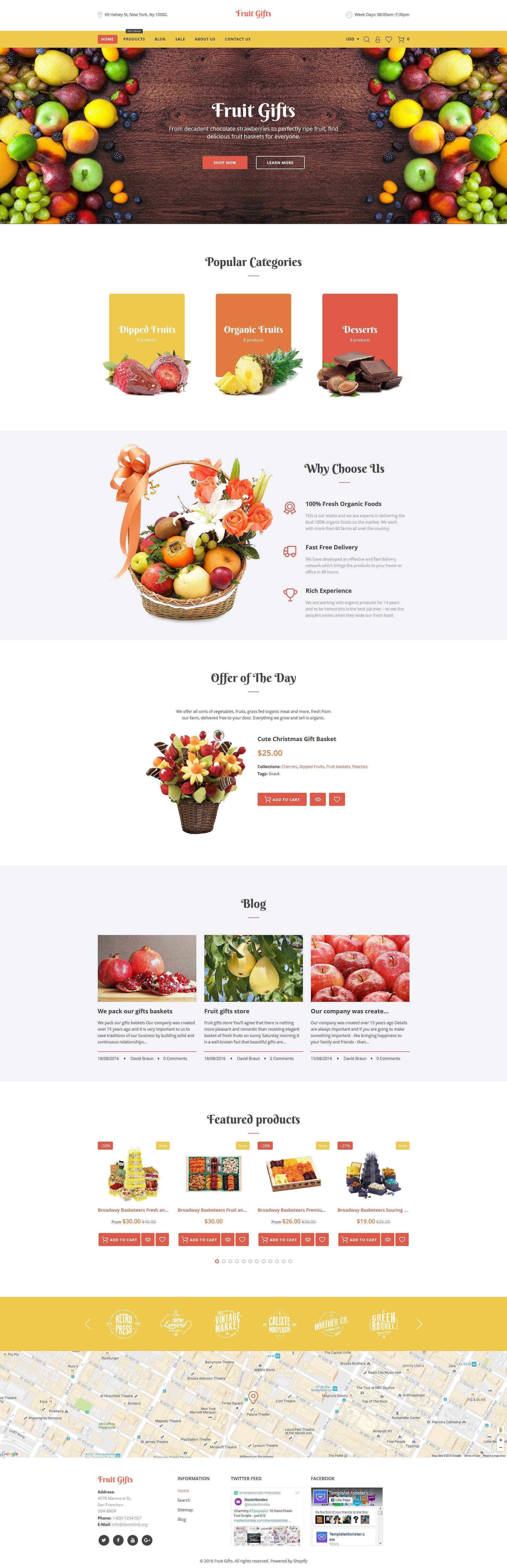Fruit Gifts Shopify Theme - screenshot