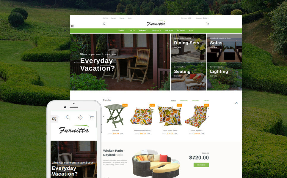 Furnitta - Outdoor Furniture PrestaShop Theme New Screenshots BIG
