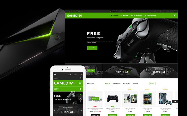 Gamedixi - Computer Games PrestaShop Theme New Screenshots BIG