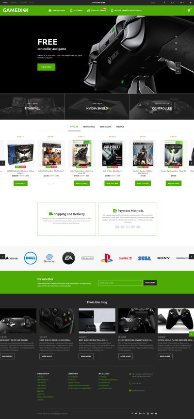 Gaming PrestaShop Themes