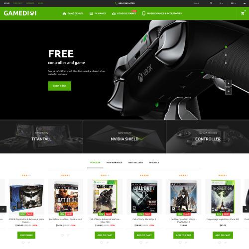 Gamedixi - PrestaShop Template based on Bootstrap