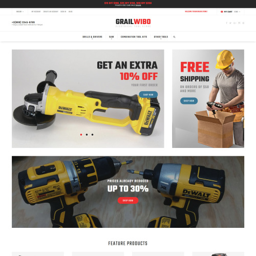 Grailwibo - Magento Template based on Bootstrap