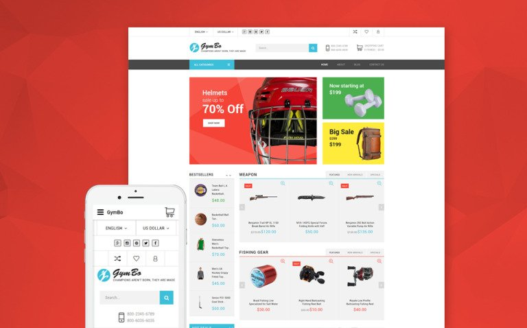 GymBo - Responsive multipurpose OpenCart template + RTL New Screenshots BIG