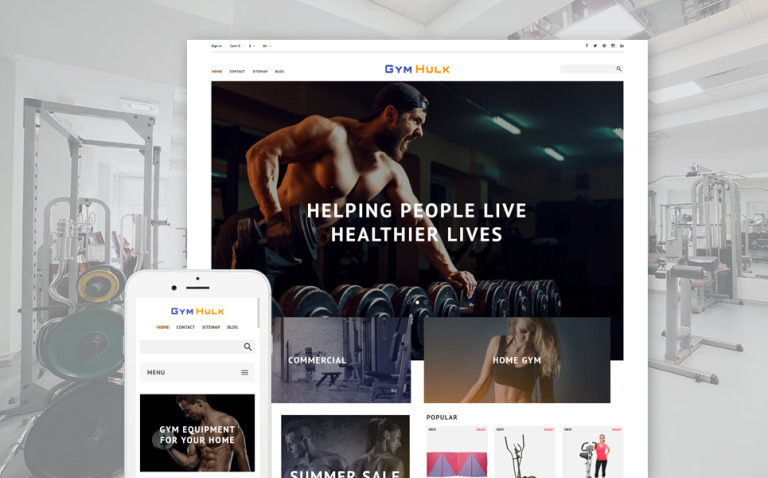 GymHulk - Gym Equipment PrestaShop Theme New Screenshots BIG
