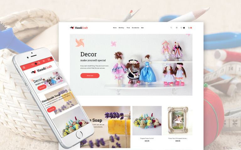 HandiCraft - Handmade Goods Shop Responsive Magento Theme New Screenshots BIG