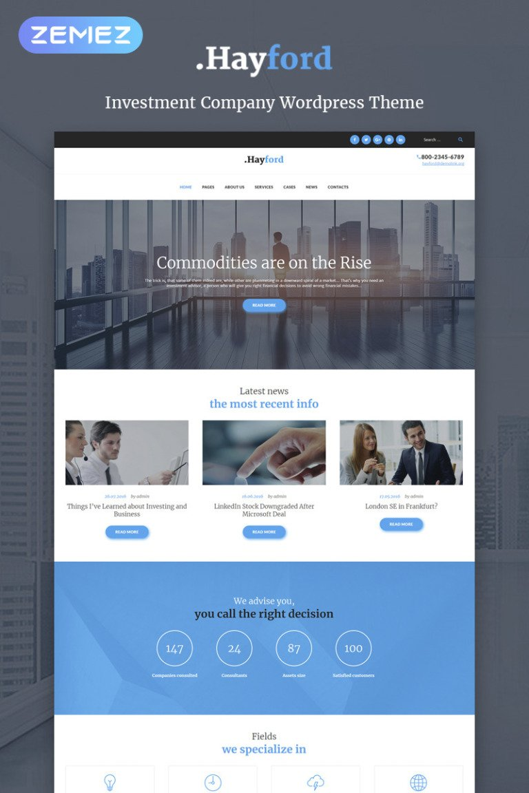 Hayford - Investment Consulting Services Responsive WordPress Theme WordPress Theme New Screenshots BIG