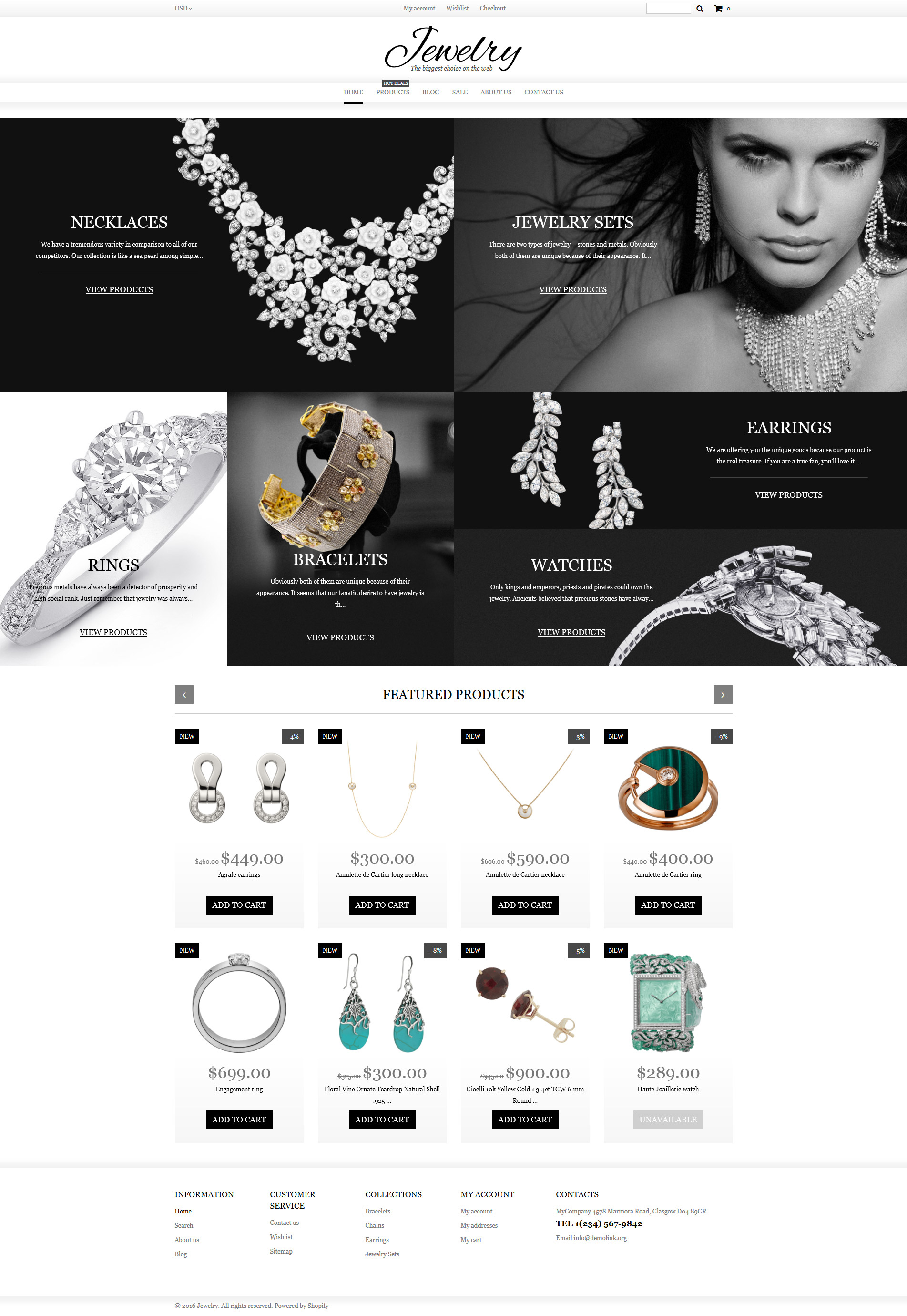 Jewelry Shopify Theme - screenshot