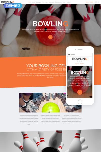 Responsive Joomla Vorlage für Bowling