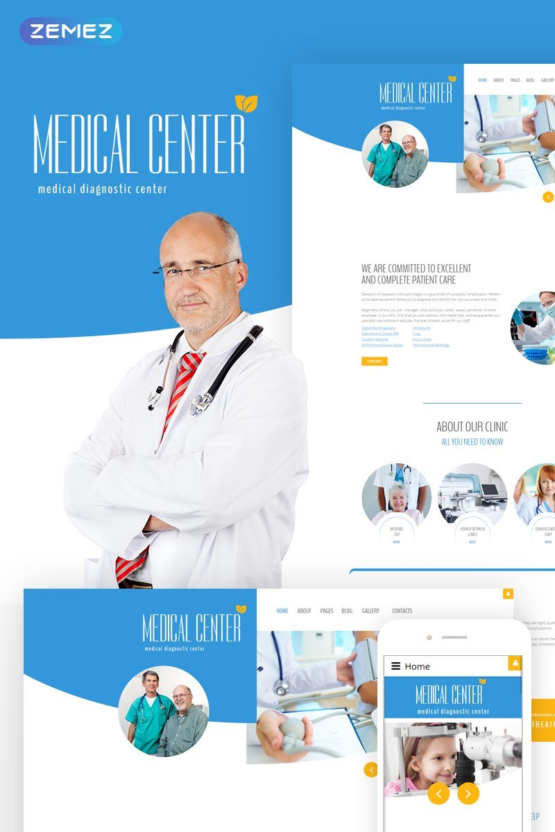 "Joomla Vorlage namens ""Diagnostic - Medical diagnostic center"" #60027 - Screenshot"