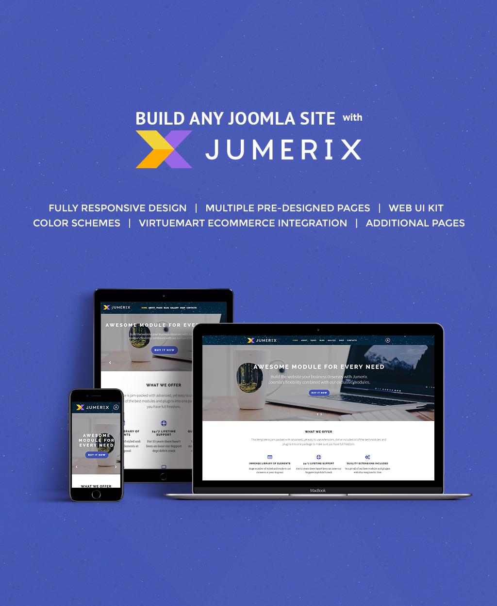 """""""Jumerix"""" - адаптивний Joomla шаблон №60060 - скріншот"""