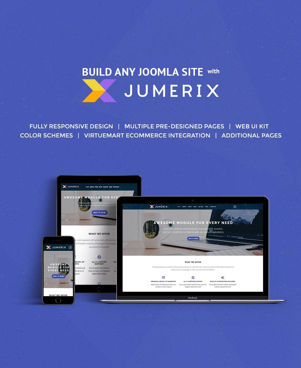 """""""Jumerix"""" Responsive Joomla Template №60060"""